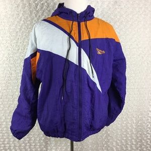 Vintage Reebok Purple Hooded Windbreaker Sz S